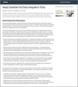 2018 Gartner Magic Quadrant for Data Integration Tools cover